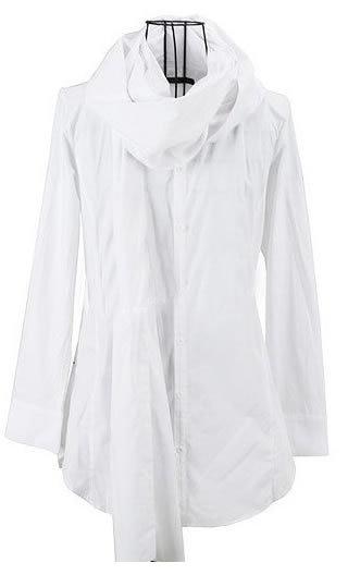 아름 다운 우아한 중립 한국어 남자의 스카프 모델링 긴 소매 셔츠 영국 스타일 셔츠 셔츠 남자 도매업