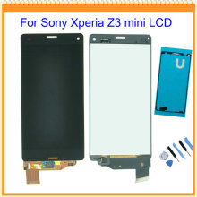 For Sony Xperia Z3 compact Z3 mini lcd display with touch screen digitizer Assembly+Tools + touch sticker Free Shipping