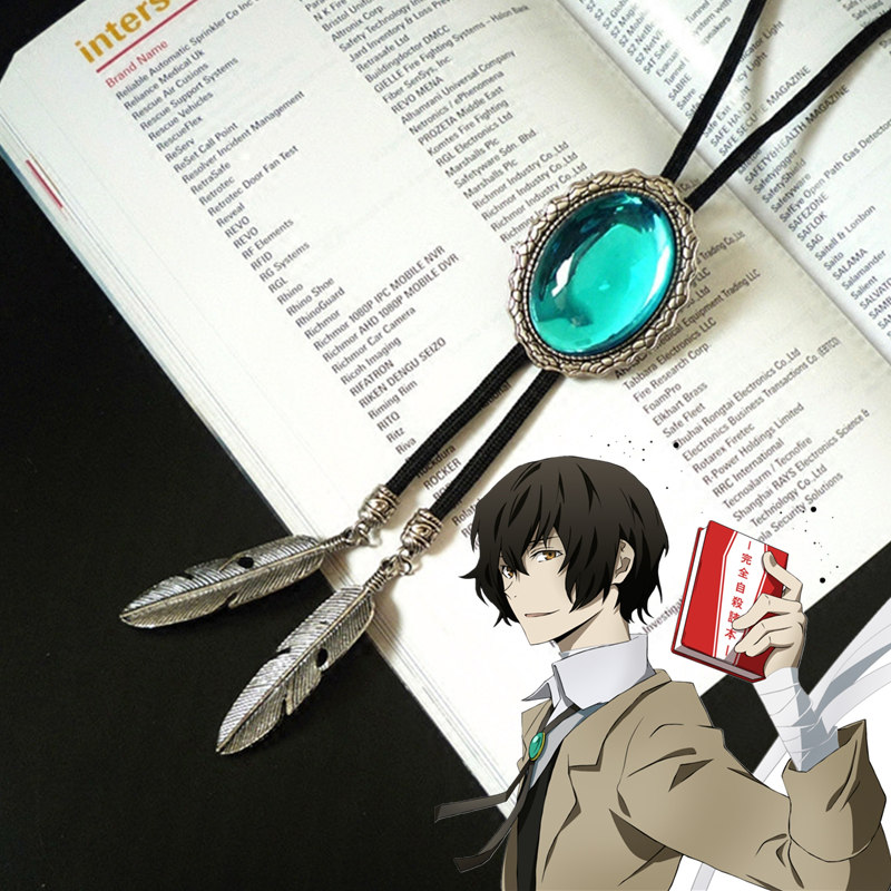 Anime Bungo Stray Dogs Osamu Dazai Cosplay accessories Necklace Bolo Tie prop
