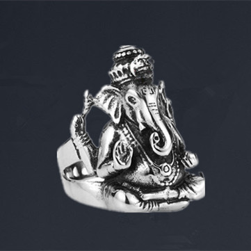 fivetwoo fashion 316l stainless steel rings for men exotic thailand mammon elephant shape vintage rings for men - Exotic Wedding Rings