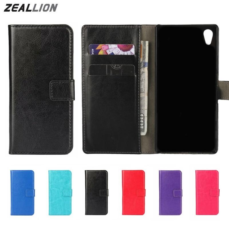 Zeallion для Sony Xperia z1 z2 z3 Z4 Z5 мини компактный m2 M4 E4 T3 C4 чехол бумажник чехол флип сумасшедшая лошадь кожаный чехол