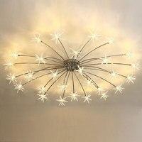 Modern Led Ceiling Light Ice Flower Glass Bedroom Kitchen Children Room Ceiling Lamp Designer Lighting Fixtures