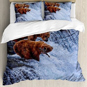 Africa Duvet Cover Set Grizzly
