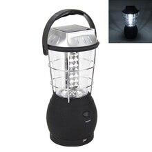30W Portable Lanterns Super Bright Hand Crank Dynamo Solar 36 Led working Lantern Light Lamp For Hunting Camping цена 2017