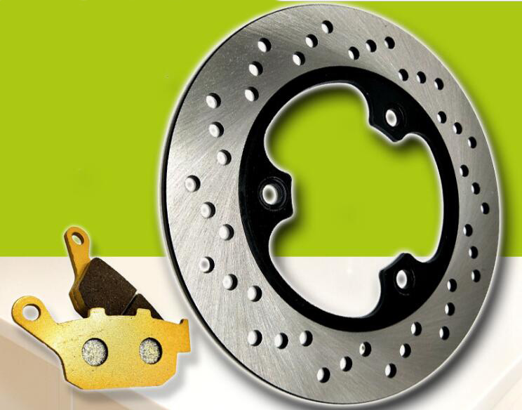 Motorcycle modified rear brake pad + rear brake disc suitable for Honda CBR17 19 CBR400 23 NSR250P2 P3 new motorcycle rear brake disc brake disc suitable for yamaha fz600 fzs600 srx600 yx600 yzf600