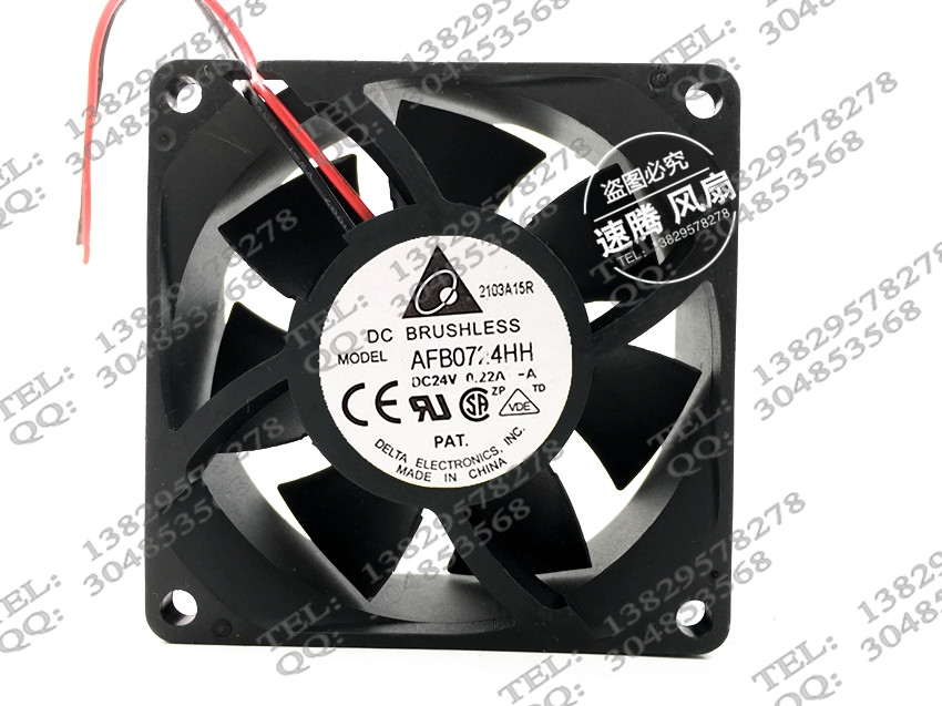 Купить с кэшбэком Authentic AFB0724HH 7CM 7 Limi 7025 24V 0.22A inverter cooling fan