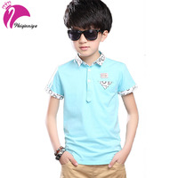 Children S Clothing For Boys England Style Letter Pattern Polo Shirt Cool Candy Color Summer Children