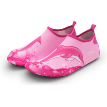 Kids summer slippers children cartoon dolphin Beach shoes non-slip breathable boys girls swimming shoes indoor baby soft socks