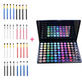Fashion 4 pcs Eye Brush Makeup Brushes + 88 Colors Shimmer Matte High Gloss Eyeshadow Powder Palette Pro Make Up Cosmetic kits