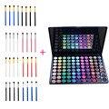 Moda 4 pcs Escova Olho Pincéis de Maquiagem + 88 Cores Shimmer fosco Alto Brilho Sombra Em Pó Paleta Pro Make Up Cosméticos kits