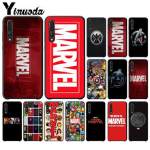 Yinuoda Marvel Comics logo Black TPU Soft Rubber Phone Cover for Huawei P10 plus 20 pro P20 lite mate9 10 honor view10