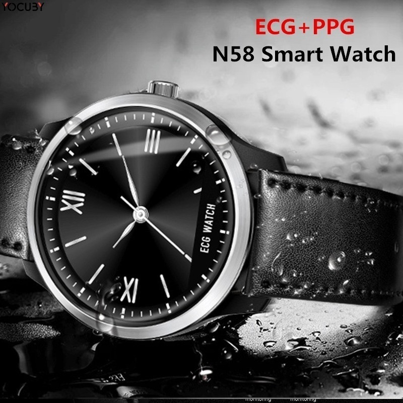 ECG PPG Smart Watch Fitness Tracker Bracelet Watch with Electrocardiograph Display Heart Rate Monitor Blood Pressure Smartwatch