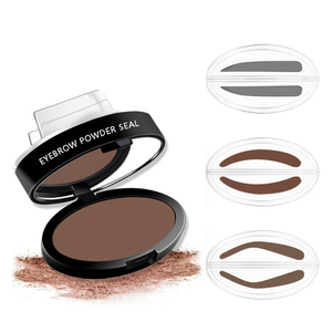 Natural Arched Eyebrow Stamp Quick Makeup Brow Stamps Powder Pallette 9 Options Eyebrow Powder Seal Best Selling Dropshipping(China)