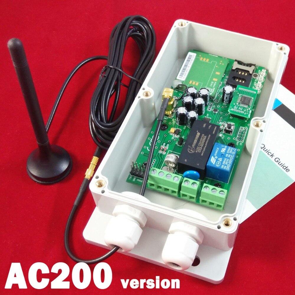 Envío Gratis WAFER GSM-KEY-AC200 GSM SMS control remoto gsm abridor de puerta/control de acceso de puerta y puerta