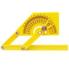1 шт желтая Регулируемая линейка 180 градусов складная легко
