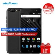 Ulefone T1 4G LTE Smartphone Dual Back Camera 5.5 Inch Android 7.0 Octa Core 6GB RAM 64GB ROM 16MP+8MP Fingerprint Mobile Phone