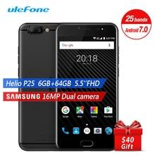 Ulefone T1 Global 4G Smartphone 5.5″ FHD 1920x1080P Android 7.0 Octa Core 6GB 64GB 3680mAh Front 16MP Fingerprint Mobile Phone