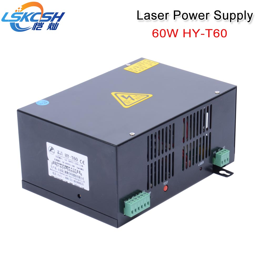 LSKCSH 220V 60W laser power supply Co2 Laser Power SUpply CO2 laser tube 60W 640 960 laser engraving machines factory HY-T60 LSKCSH 220V 60W laser power supply Co2 Laser Power SUpply CO2 laser tube 60W 640 960 laser engraving machines factory HY-T60