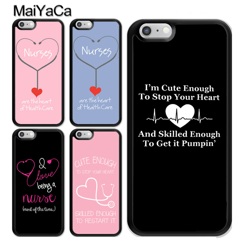 Maiyaca Doctor Nurse Medical Love Pills For Iphone 6 Plus Iphone Case For Iphone 7 6splus 6 6plus Cellphones Phone Bags & Cases Half-wrapped Case