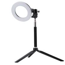 "BORUiT 6"" Dimmable SMD LED Studio Camera Ring Light 18W Photography Photo Video Fill Ring Light with Tripod for Canon Makeup(China)"