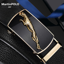 MartinPOLO New Arrivals Mens Automatic Buckle Genuine Leather Belt Cow Male Belts cinturones para hombre  MP01501P