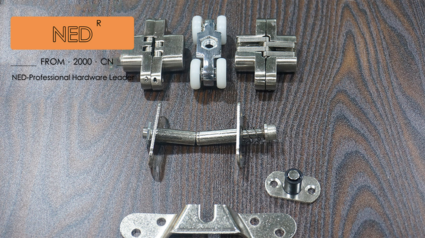 NED Folding Sliding Door Sliding door roller set Hanging door rollers wood door hanging wheel hamlet ned r