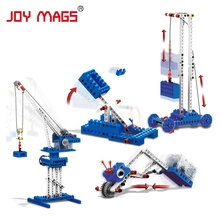 JOY MAGS 1402 Mechanical Power Crane 4 in 1 Building Blocks Scientific Experiment Physics Toy