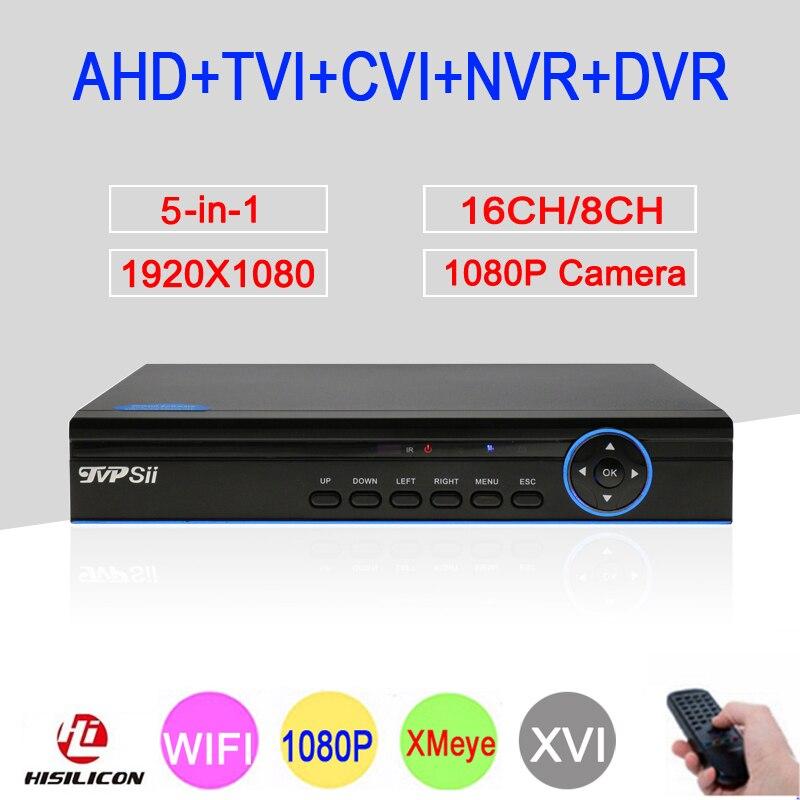 Blue-Panel 1080P 2MP Full HD XMeye Hi3531A 16CH/8CH 6 in 1 WIFI Coaxial Hybrid Onvif CVI TVI NVR AHD CCTV DVR Free Shipping xmeye app blue ray panel 1080p 2mp 4ch 8ch full hd hybrid coaxial onvif wifi 5 in 1 cvi tvi nvr ahd cctv dvr free shipping
