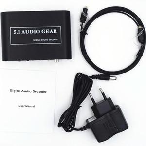 Image 5 - Decodificador de áudio digital 5.1 dts da engrenagem de áudio/ac3/6ch conversor de áudio digital lpcm a 5.1 saída analógica 2.1 para ps2 ps3 xbox360 dvd