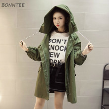 Trench Women Korean Style All-match Loose Trendy Student Womens Clothing Daily H