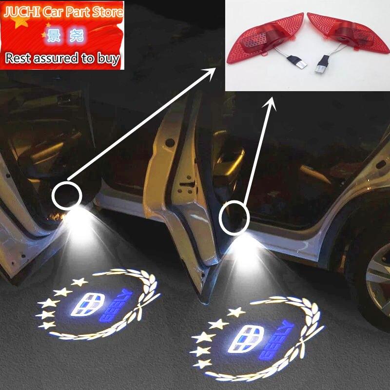 Auto luce di portello di benvenuto Luce Dell'ombra del Fantasma per Geely Emgrand 7 EC7 EC715 EC718 Emgrand7 E7 ,EC7-RV EC715-RV EC718-RV,EV