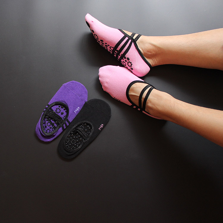2018 yoga socks silicone non-slip shallow mouth movement dance socks comfortable stretch feet woman soumit 5 colors professional yoga socks insoles ballet non slip five finger toe sport pilates massaging socks insole for women