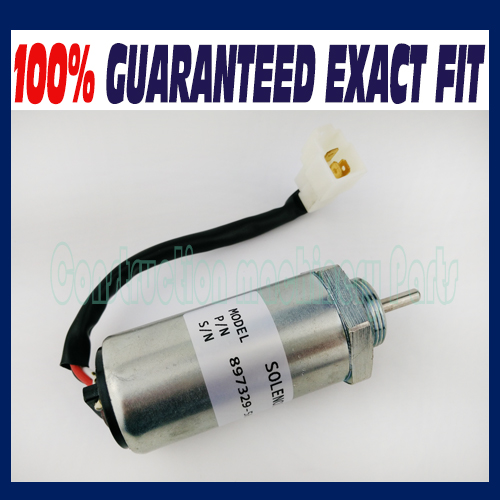 Fuel Shutoff Solenoid fit Isuzu 3LD1 3LD2 4LE1 3LB1 4LB1 Engines 897329-5680 8973295680 3924450 2001es 12 fuel shutdown solenoid valve for cummins hitachi