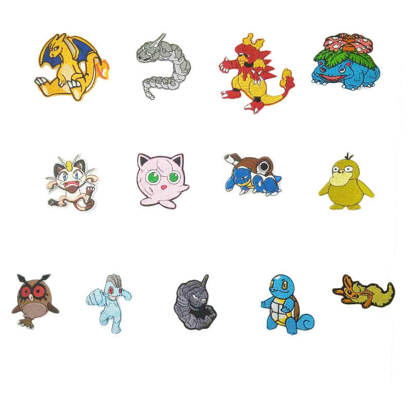 Pokemon Go patches MEOWTH Team Onix Blastoise water Jigglypuff Squirtle Psyduck Comics tv movie Embroidered Emblem halloween