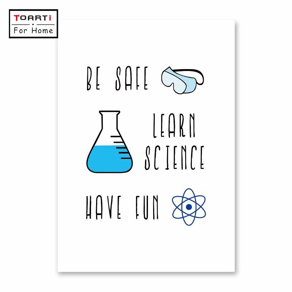 Color Chemistry Lab Safety Sign Art Canvas Print Poster Chemistry Science Laboratory Canvas Painting Wall Picture Art Decor