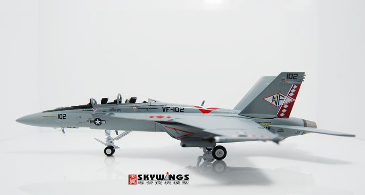 008-012 F/A-18F Witty super large wasp US Navy 1:72 diamond tail squadron Finished Model