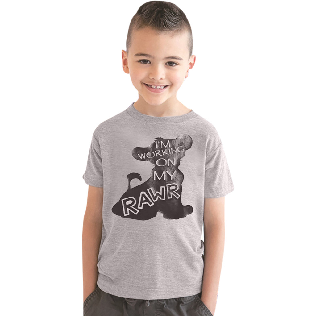 MUQGEW Boys T-Shirt Cloth Short-Sleeve Animal Lion Girl Baby Kids Children Cartoon Tee-Tops
