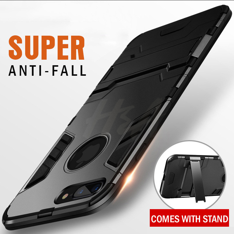 Shockproof Armor Phone Case For iPhone X 5 5s 6 8 7 Plus TPU + PC Protective Case