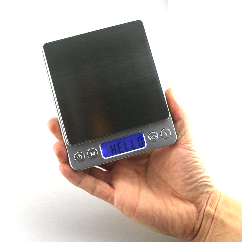 Mini Digital Kitchen Scale 500g 0.01g Portable LCD Backlight Display Silver Scales Jewelry Kitchen Scale Weighting Balance Tool