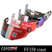 LS2 visera para casco de motocicleta LS2 FF358, Original, de cara completa, lente multicolor opcional, adecuada para ls2 FF396 FF392