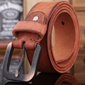 vintage belts for mens women luxury 100% real high quality full grain genuine leather 2017 jeans brown cowboy casual 3.8 cm wide