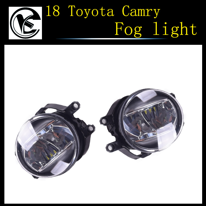 QINYI Car Front Bumper Fog Lights with LED Bulbs For Toyota Camry Corolla Yaris RAV4 For