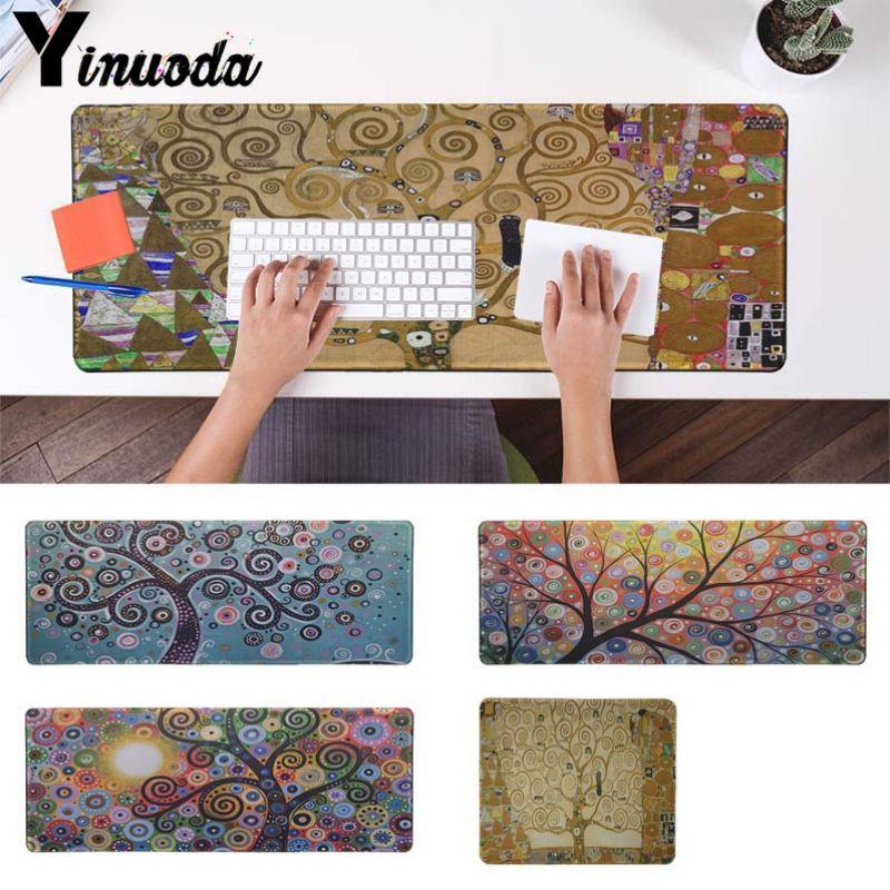 Yinuoda New Design gustav klimt tree of life Customized laptop Gaming mouse pad Size for 18x22cm 20x25cm 25x29cm 30x90cm 40x90cm