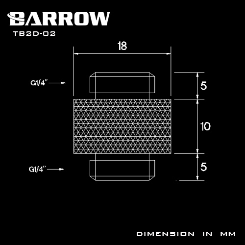 Купить с кэшбэком BARROW G1/4 Male to Male Connectors / Extender 10mm M to M Dual Male Fitting Accessories Metal Fittings