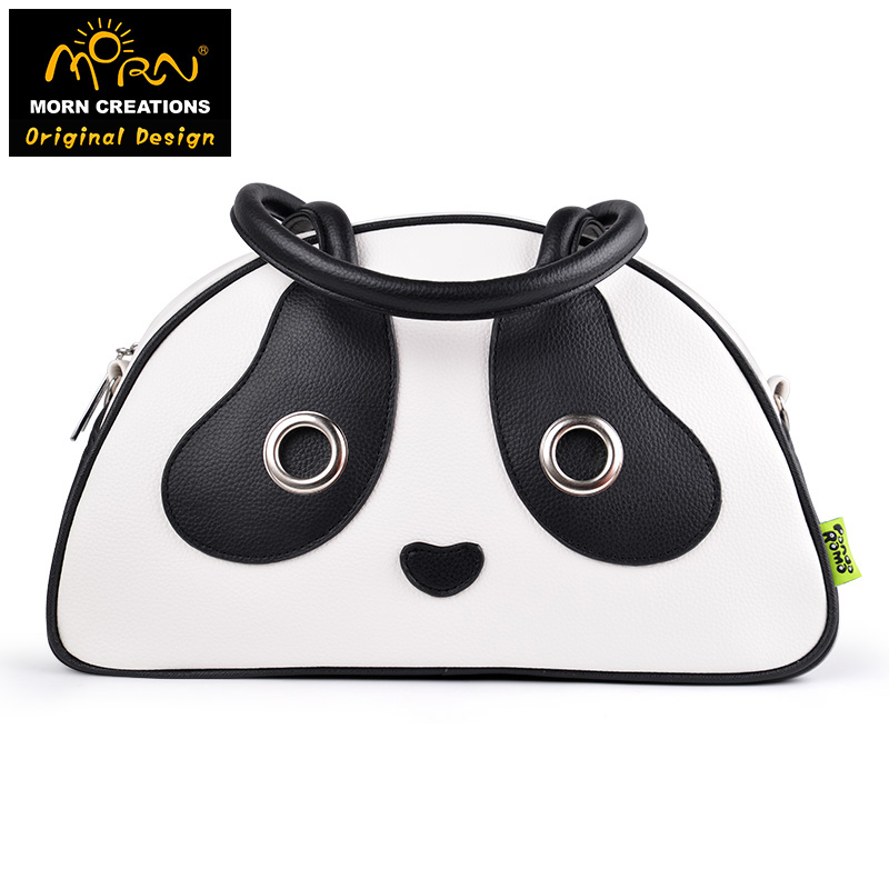 Hong Kong Original Design Morn Creations Panda Handbag Flap Bags Totes Bags Panda Bag (M)