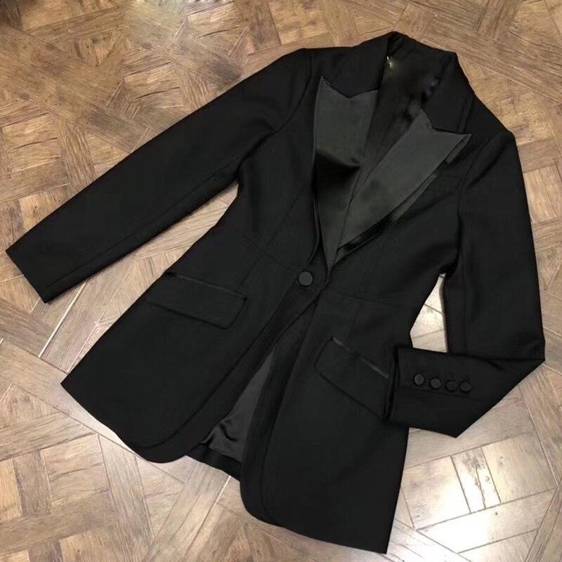Unique Casual De Tissu ligne Manches À A Bouton D'hiver Polyester Longues Noir Veste Outwear Hiver Femmes Manteau Épaisse wCTxOEqOd