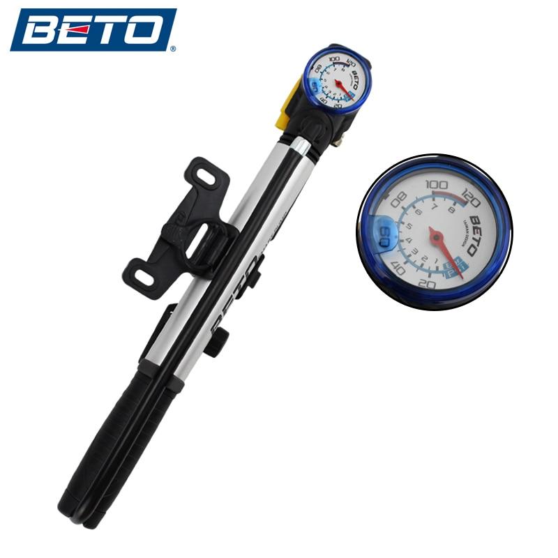 Beto Bicycle Pump Portable Mini Ultra Ligh Aluminum Alloy