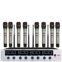 8 Channel Wireless Conference Microphone System For Meeting Desktop Standing Handheld Microphonfor KTV Singing Party