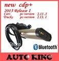 2017 venta Caliente de oro CDP Pro plus función Bluetooth para Coches y camiones herramienta de diagnóstico obd2 vd ds tcs cdp pro + envío gratis