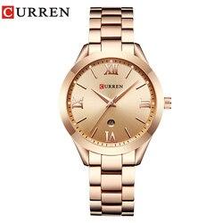 CURREN 9007 Rose Gold Watch Women Quartz Watches Ladies Top Brand Luxury Female Wrist Watch Girl Clock Relogio Feminino